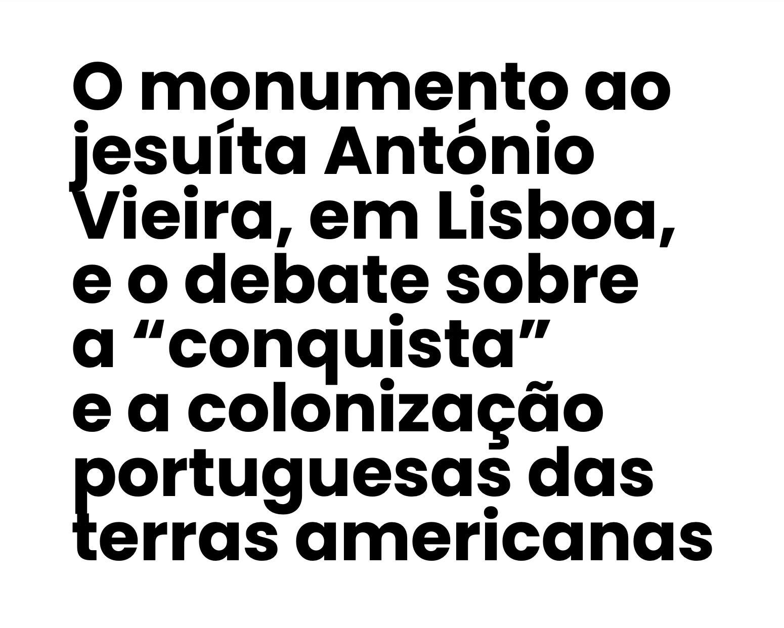 O monumento ao Jesuíta António Vieira — Pedro Cardim