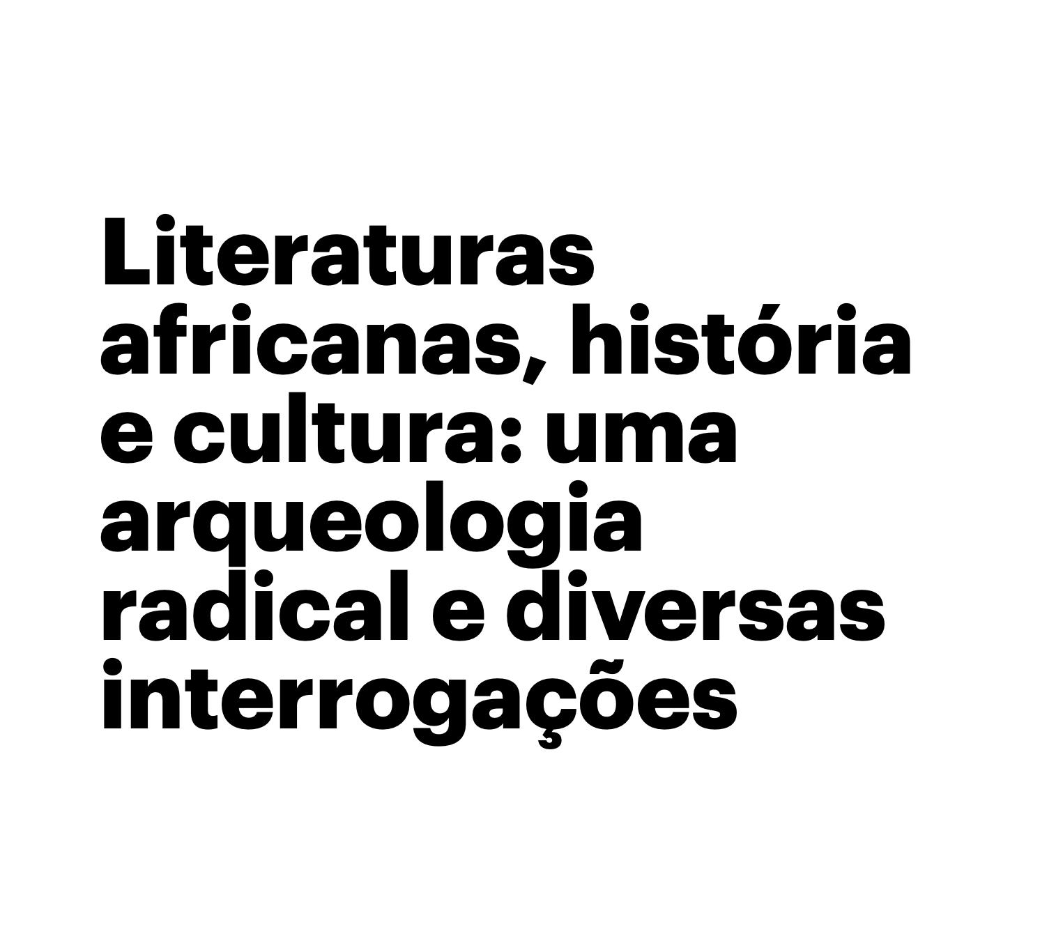 Literaturas Africanas — Ana Maria Martinho