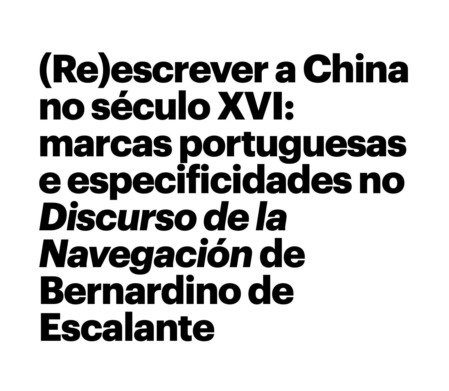 (Re)escrever a China — Victoria Béguelin-Argimón