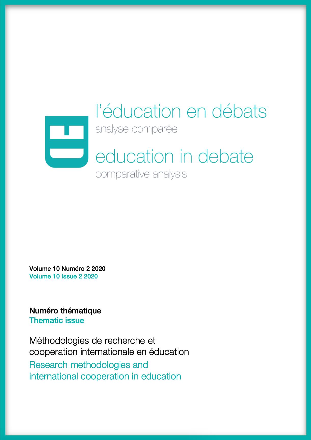 Afficher Vol. 10 No 2 (2020): Méthodologies de recherche et coopération internationale en éducation